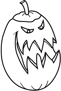 Sketch angry halloween pumpkin