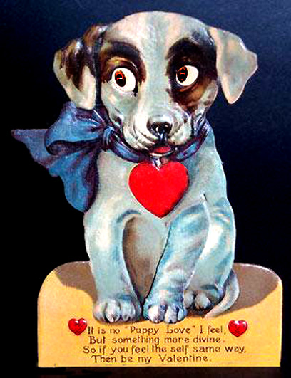 puppy love valentine greeting