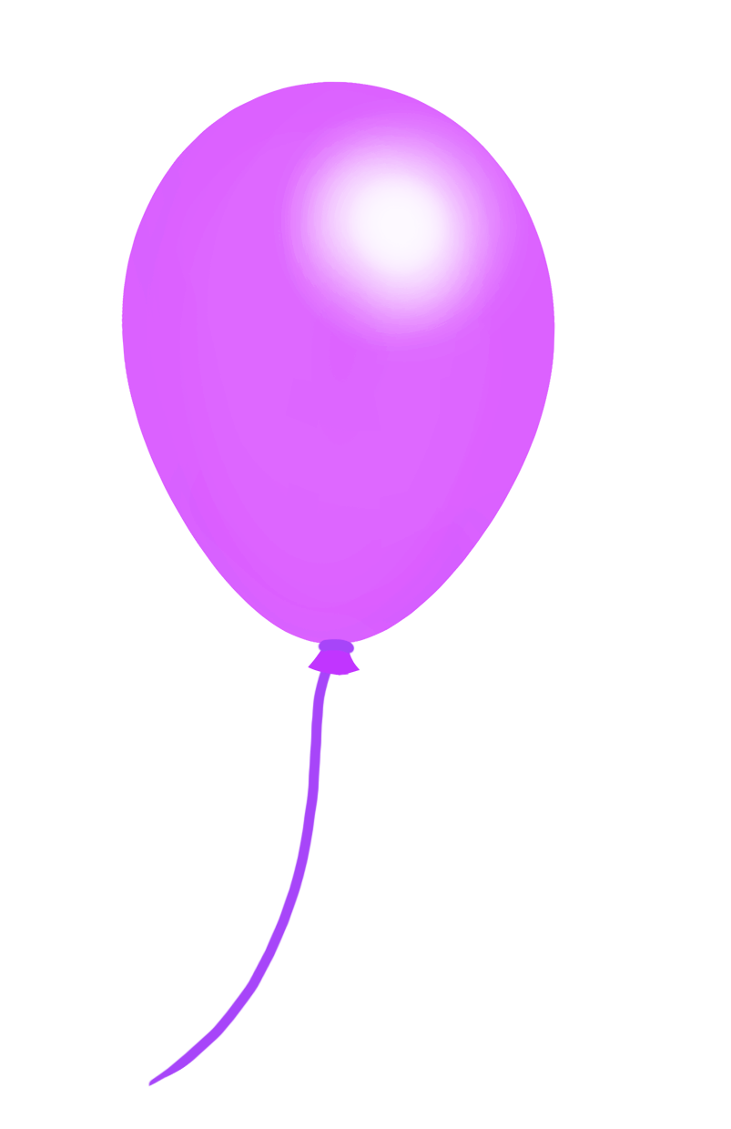 purple balloon clipart