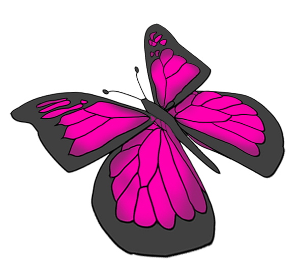 Butterfly Drawings With Color Pink Beautiful butterfly im...
