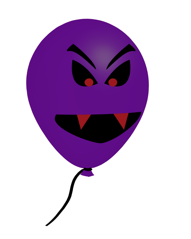 purple Halloween balloon face