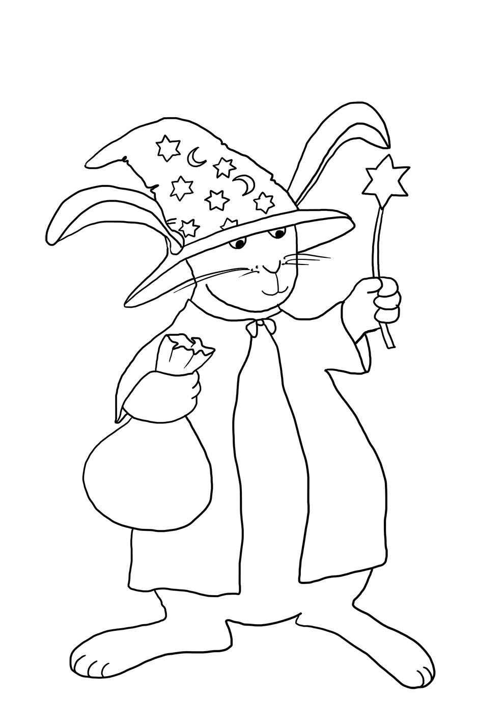 rabbit in halloween witch costume