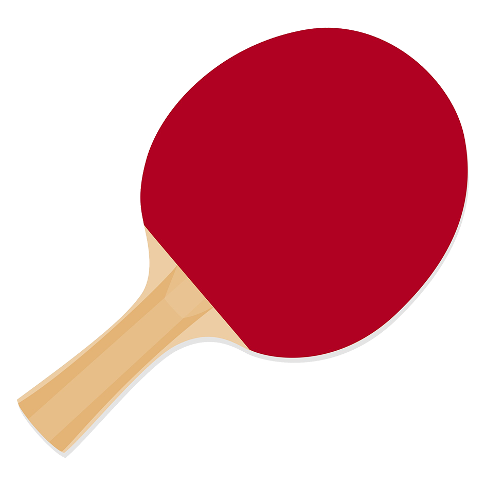 racket for playing table tennis clipart