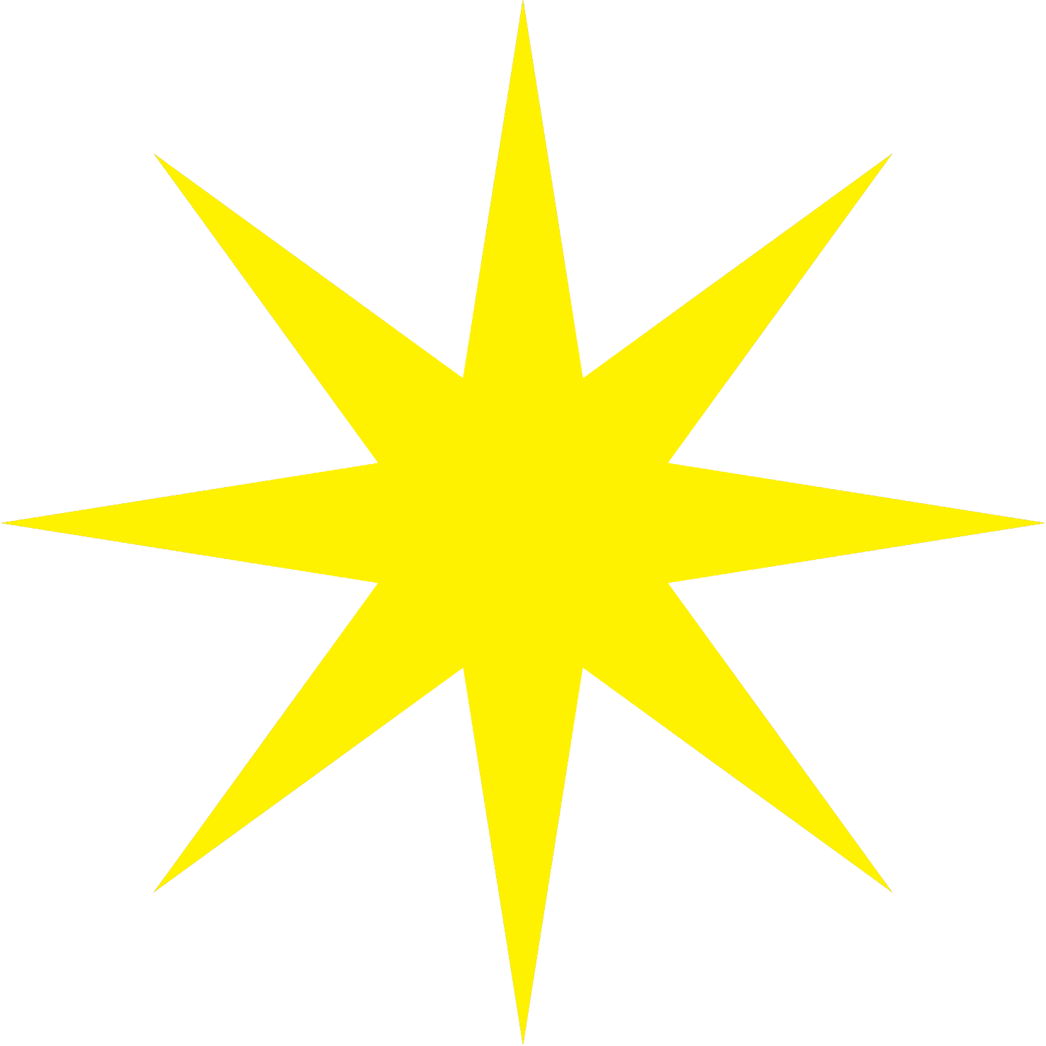 yellow 8-pointed star clipart