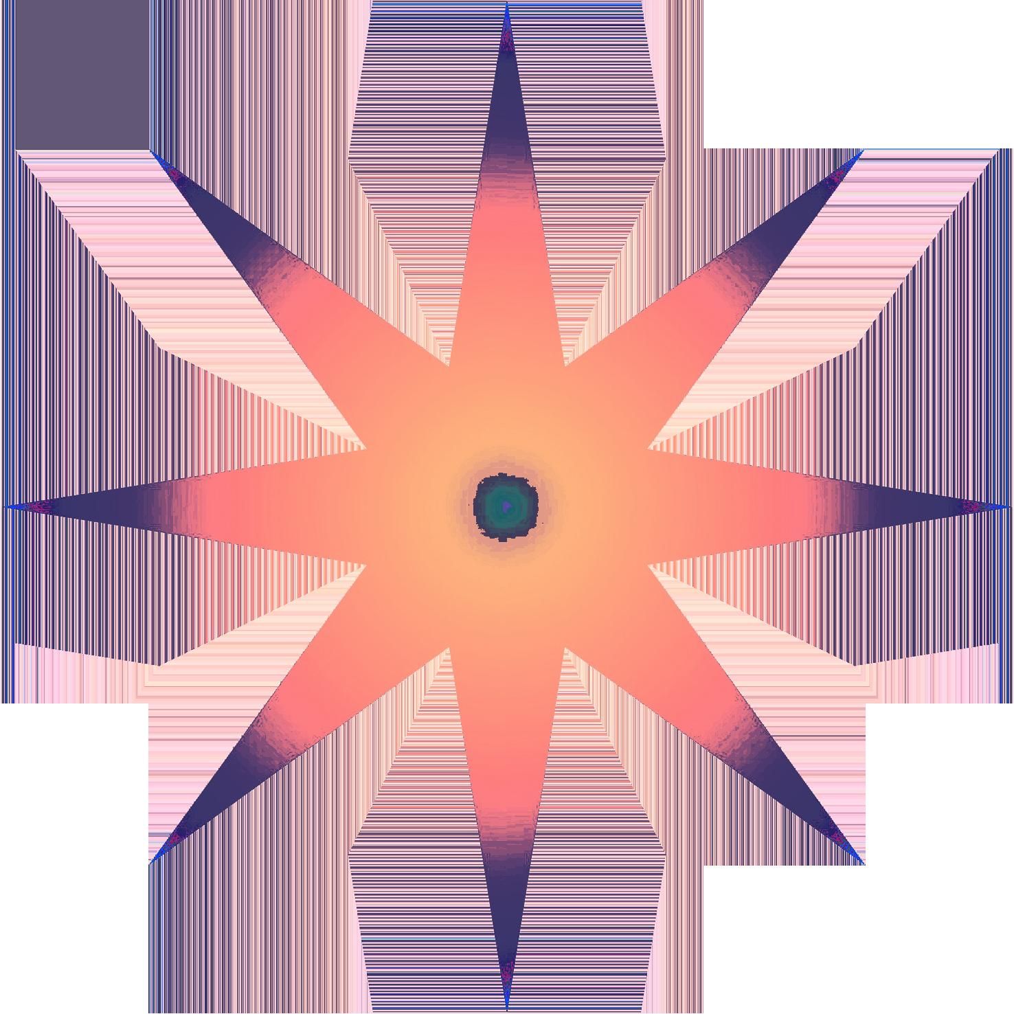 multicolored star clipart