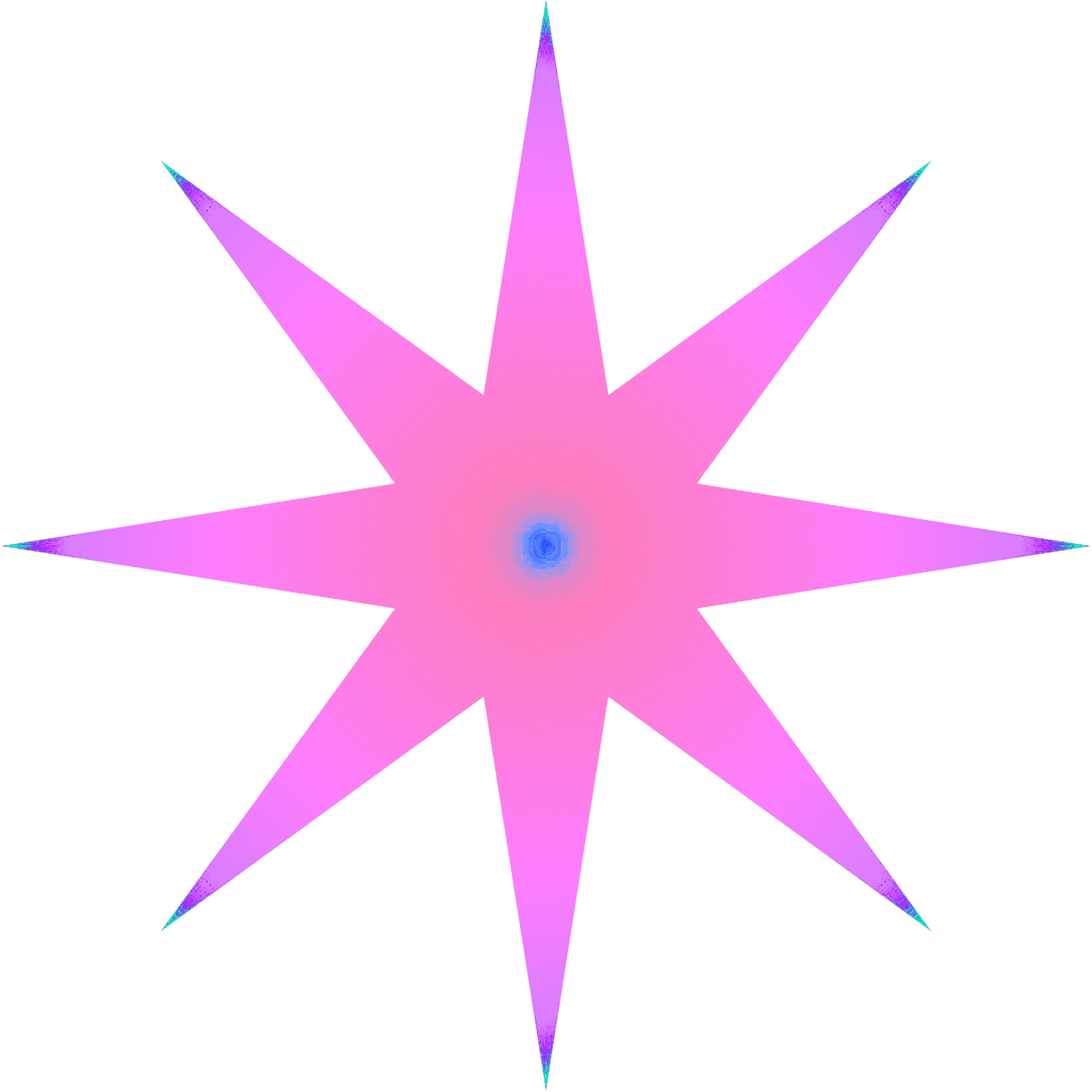 pink pointed star