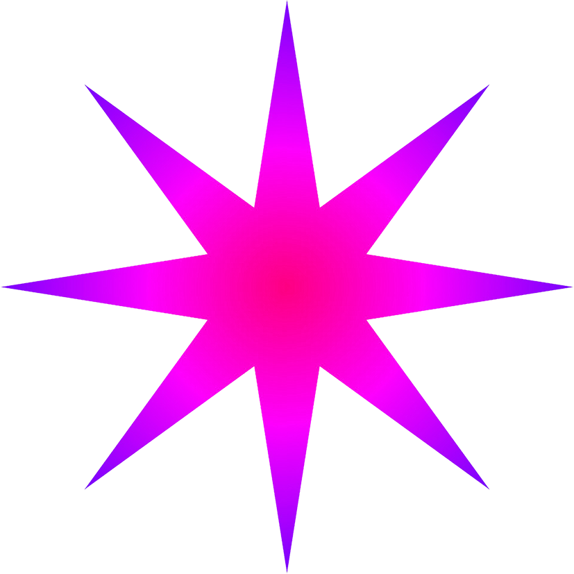 radial star clipart