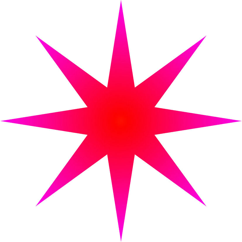 red radial star 8-pointed