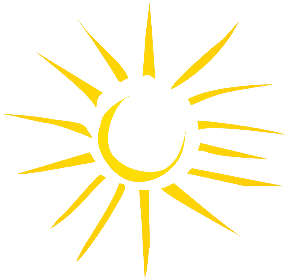 rays forming a sun drawing