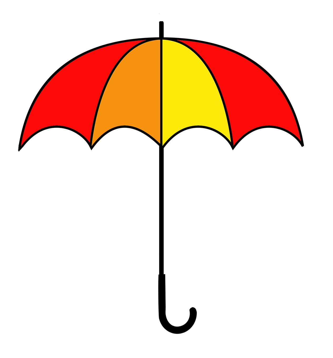 red and yellow umbrella