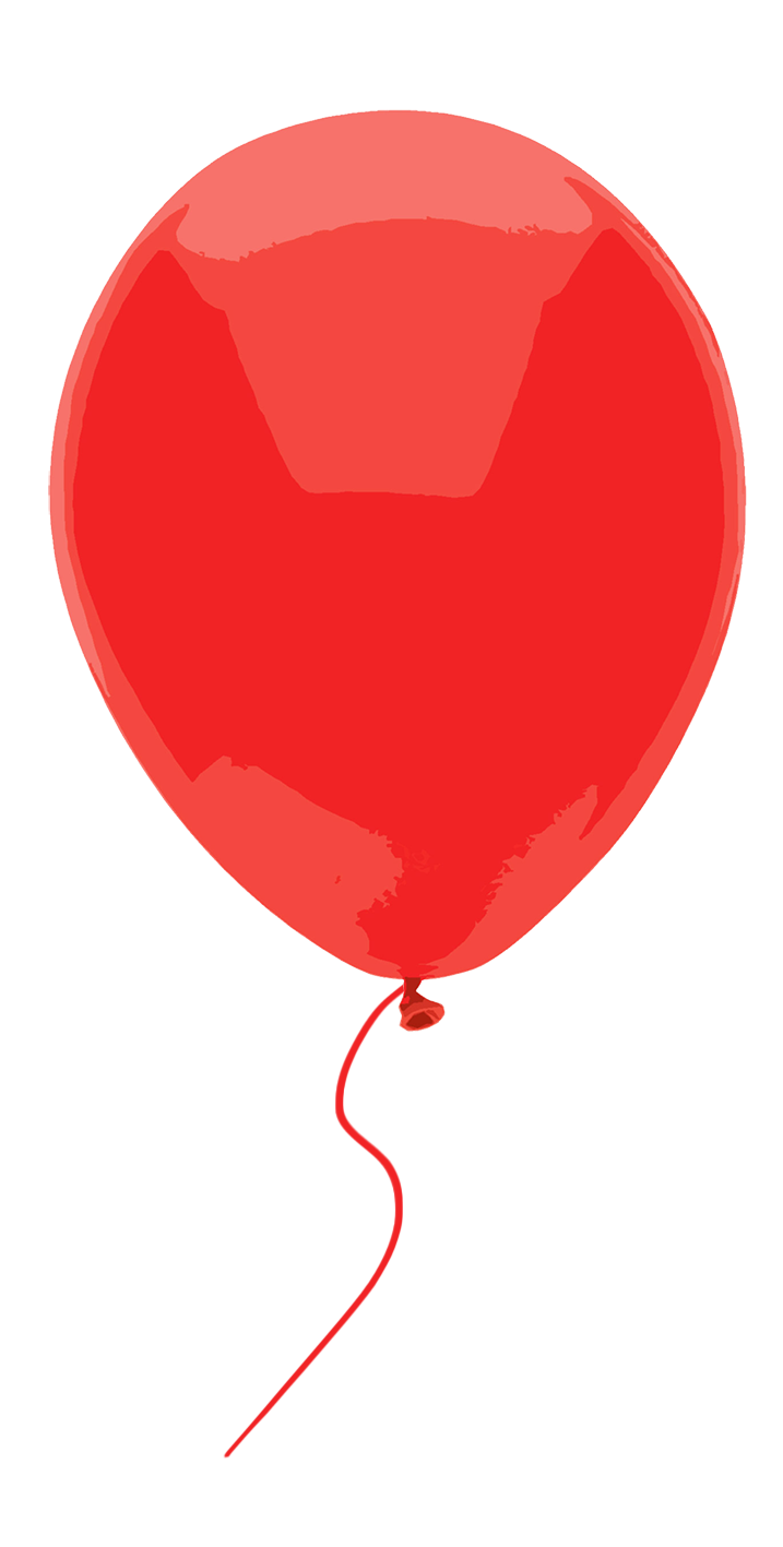 red balloon on a string