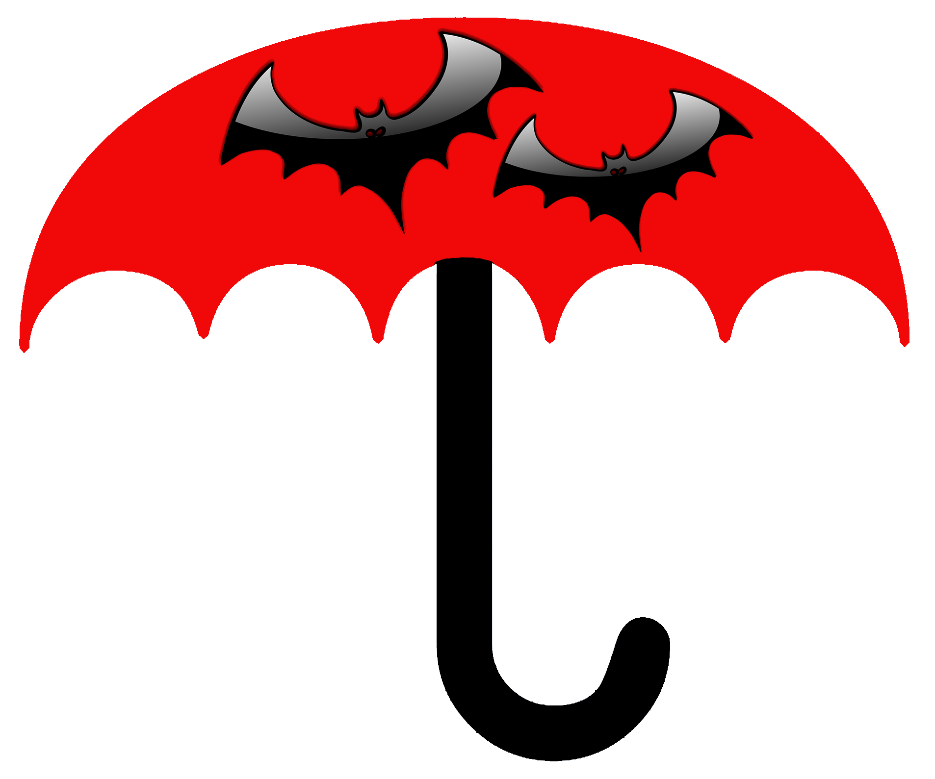 batman umbrella for kids red with bats