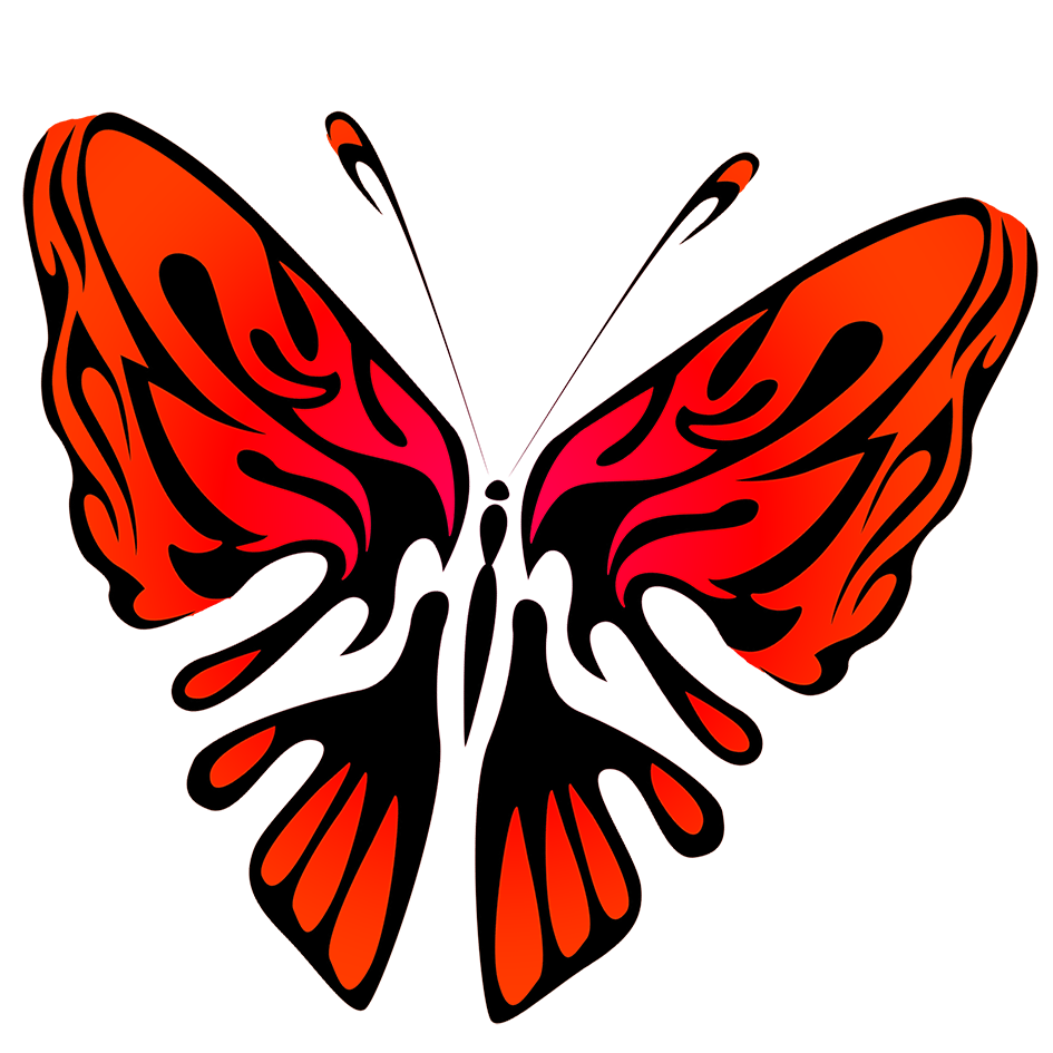 red and black butterfly image