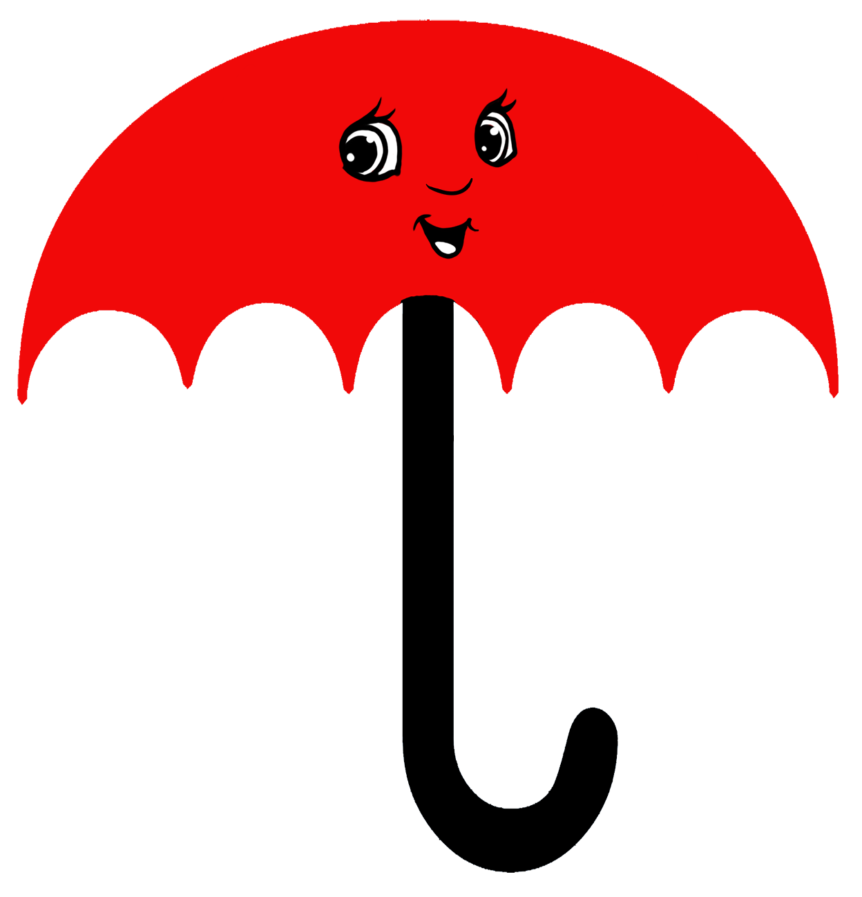 red cartoon umbrella clipart