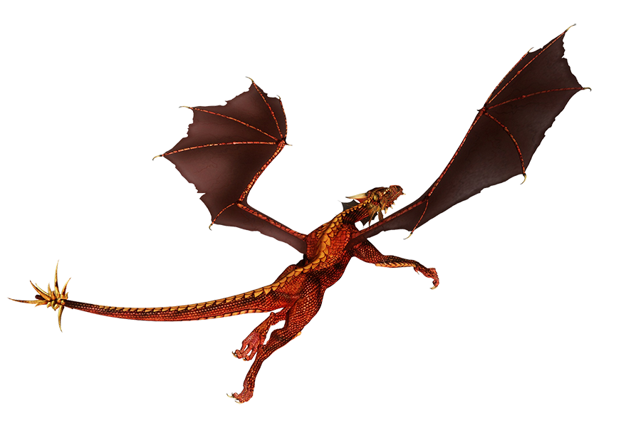 flying dragon red