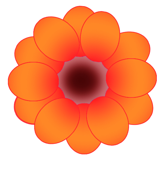 orange flower drawing