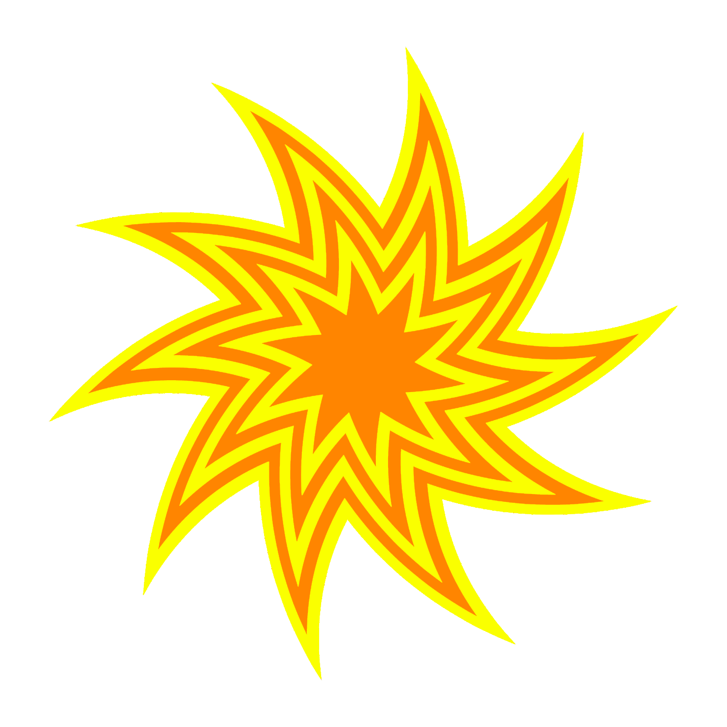 Yellow and orange star swirl