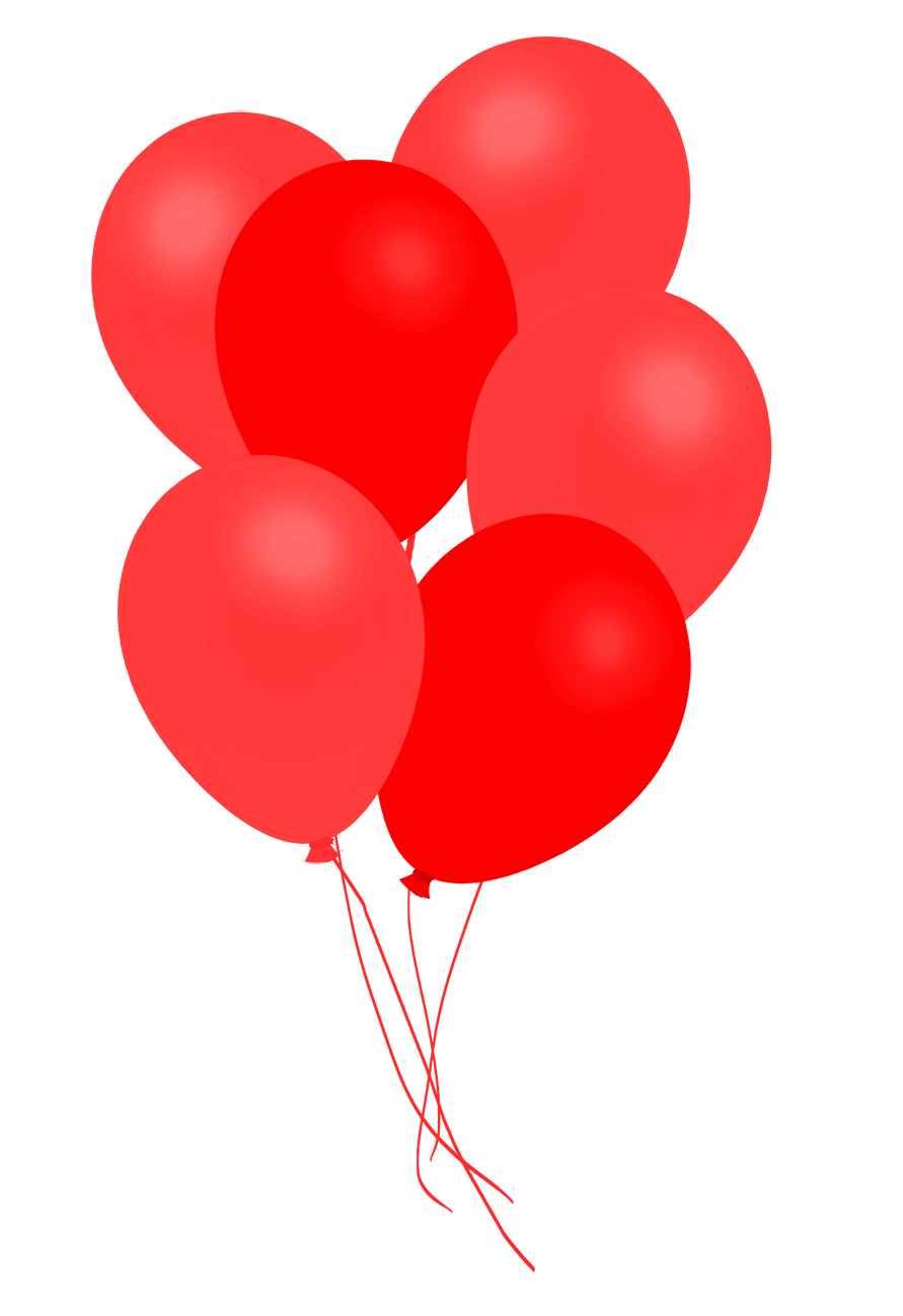 bunch of red balloons clipart