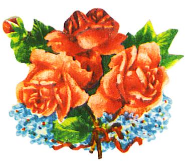 red roses scrap image