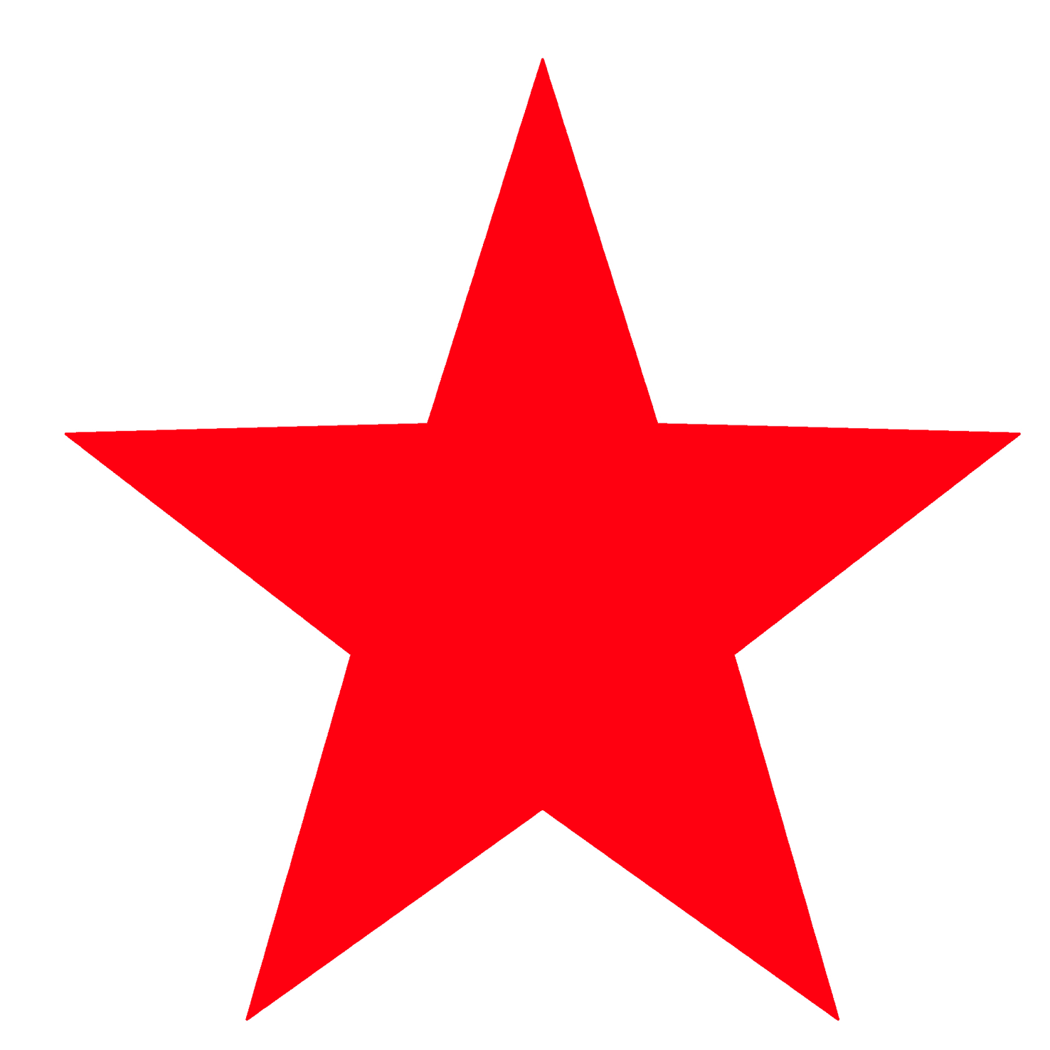 red star template
