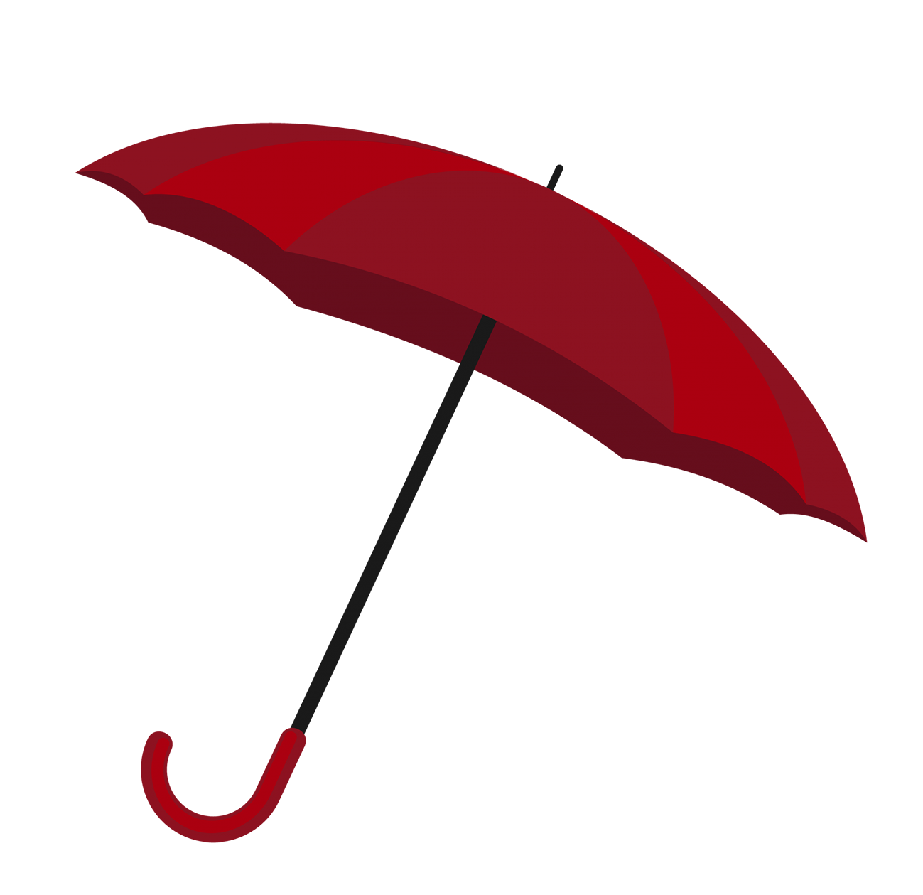 red umbrella clipart