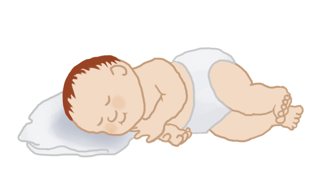 redhaired sleeping baby clip art