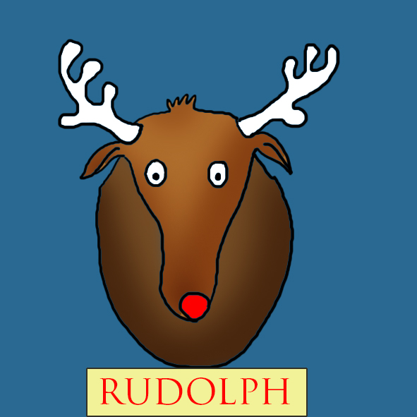 Cool Christmas clip art reindeer