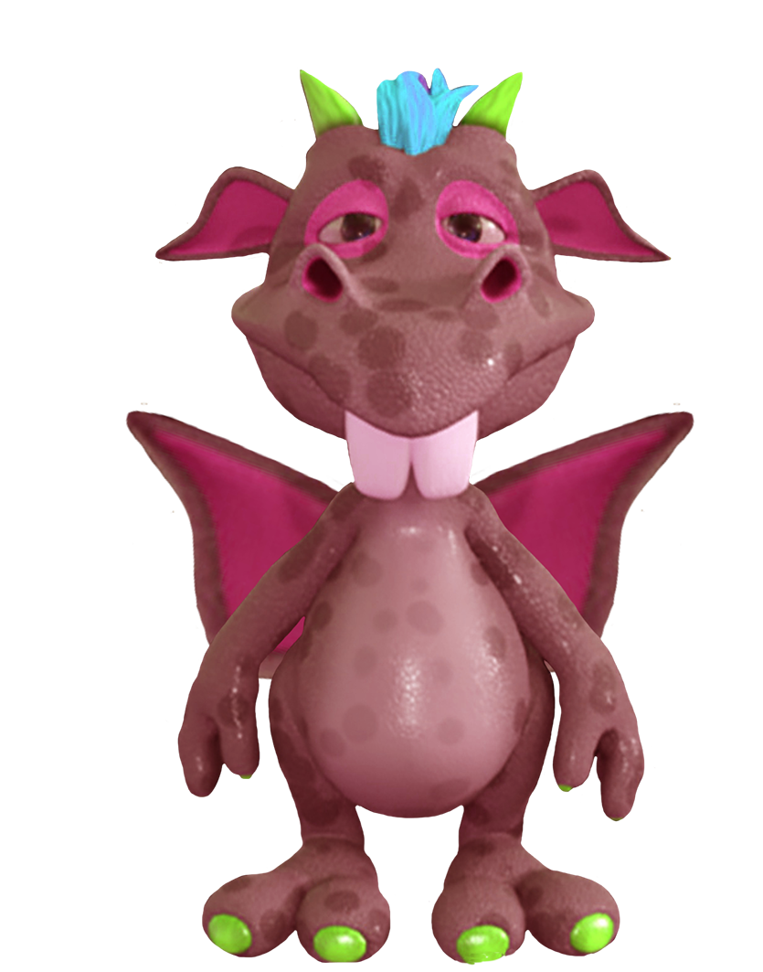 cute dragon purple