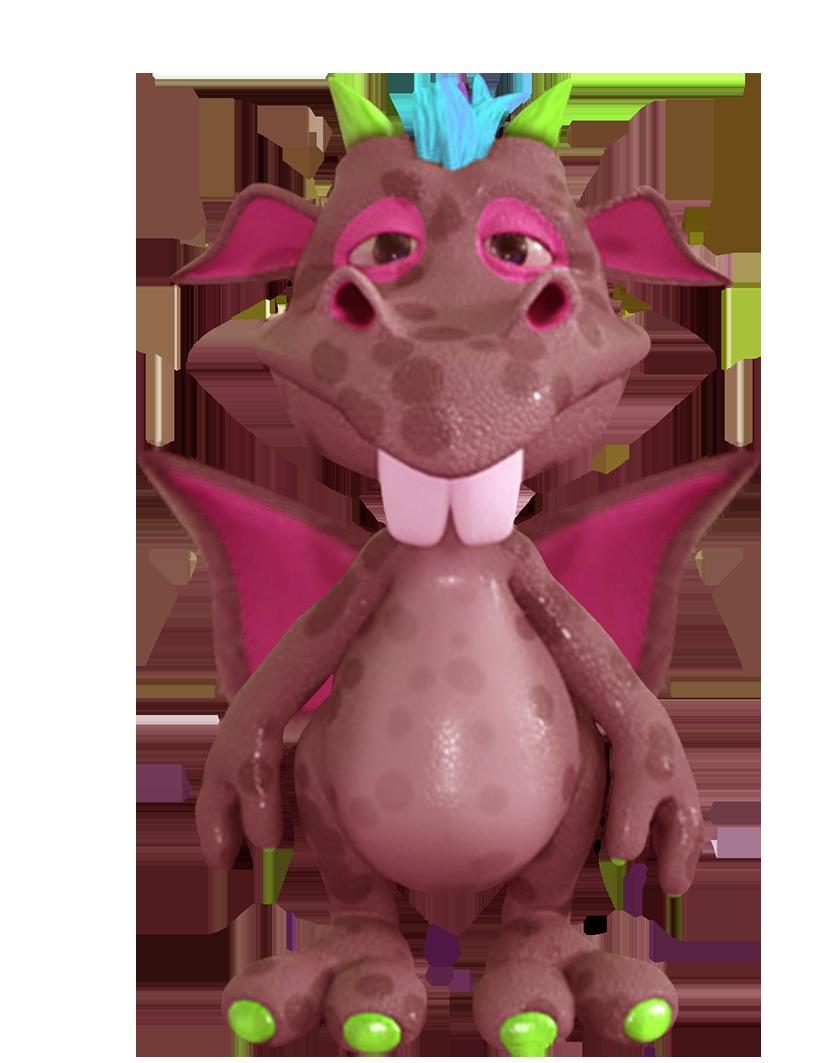 cute dragon purple