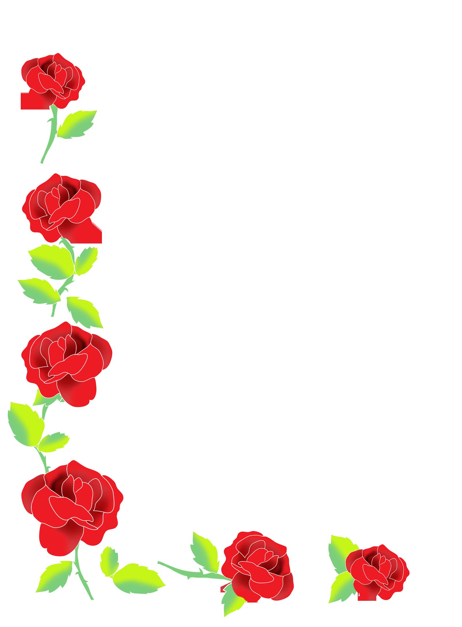 rose corner border