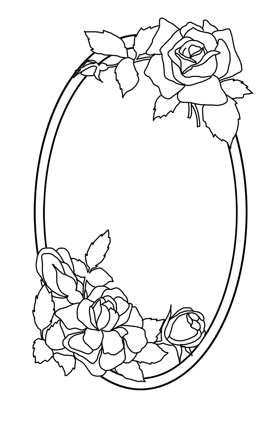 roses and frame coloring