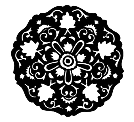 round Victorian design element