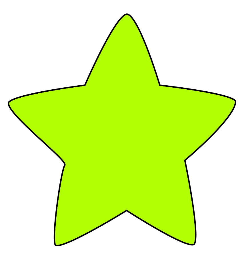 green star image with rounded points