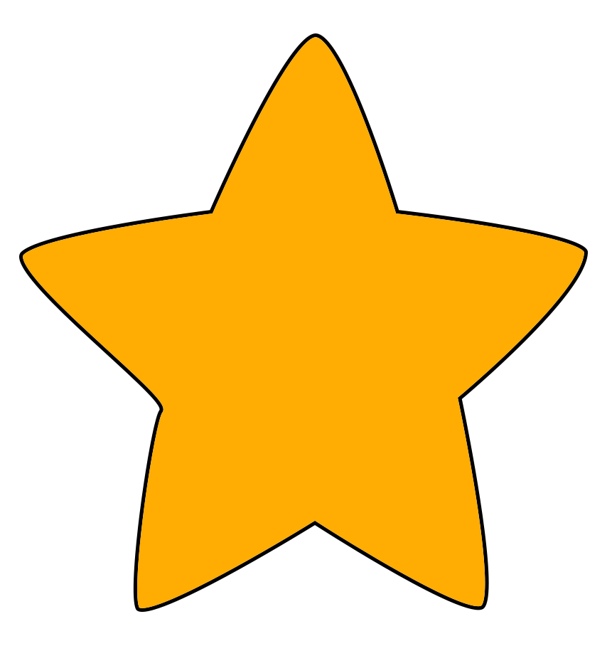 orange star drawing