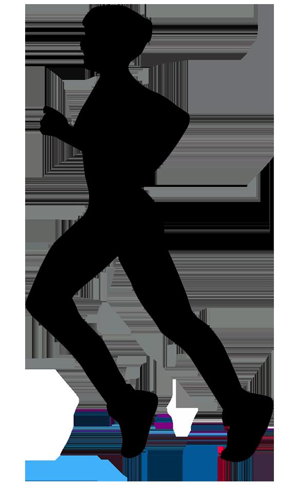 runner silhouette woman
