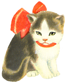 sad little kitten clipart