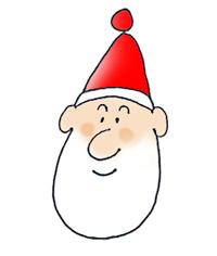 Santa Claus head with beard