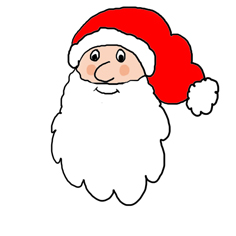 Santa Claus with beard