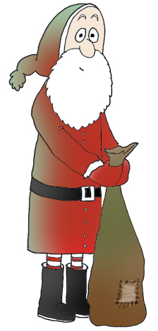 Funny and free Santa Claus Clipart.