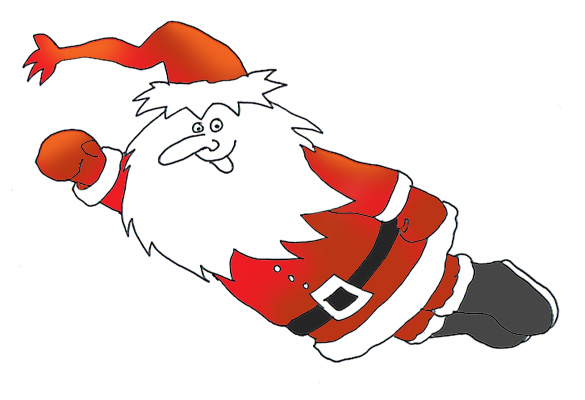santa claus clipart super santa flying