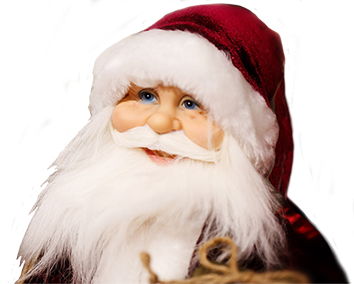 Close up of Santa Claus