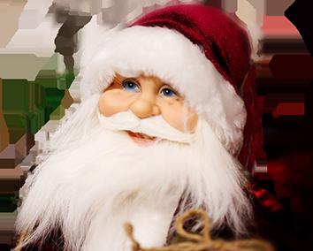Close up of Santa Claus