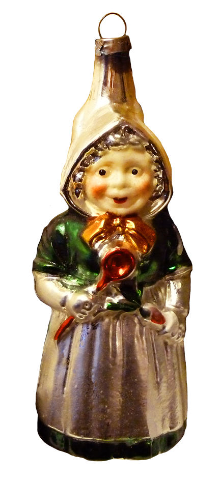 Santas wife Christmas tree ornament