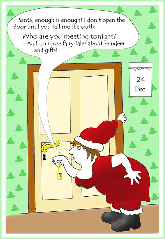 Funny Santa's wife Christmas card
