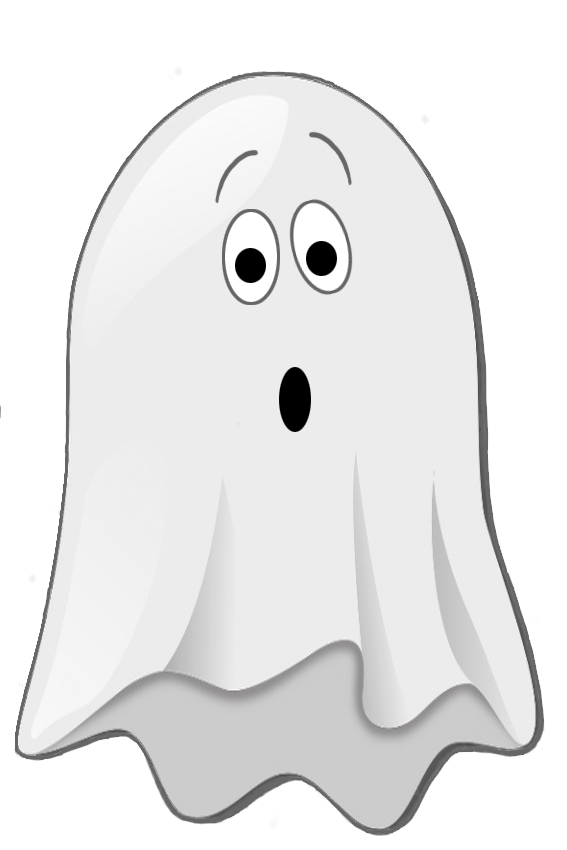 scared little ghost clip art