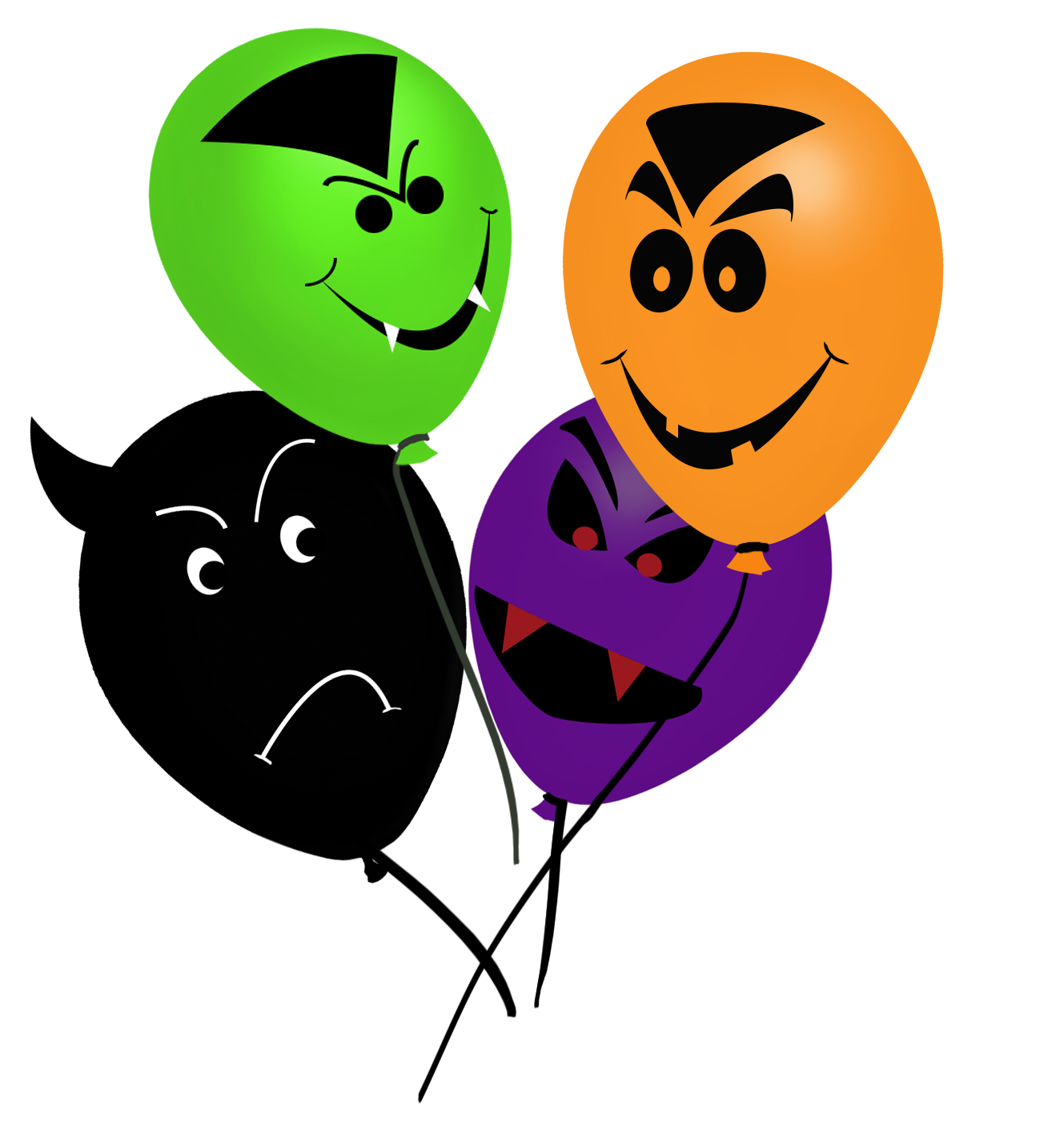 bunch of balloons for Halloween