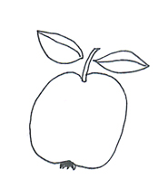 school images apple black white
