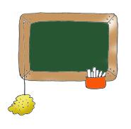 school clip art green blackboard