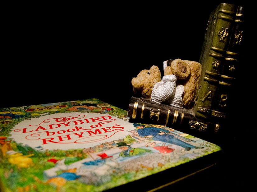school clip art books teddy bear