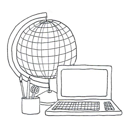 school clipart globe computer